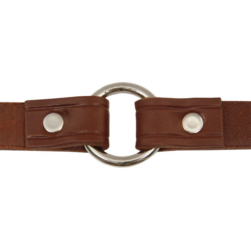 Leather Puppy Collar Inside Center Ring Detail