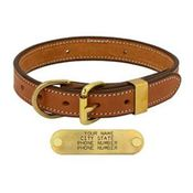 shop LONDON TAN 1 in. Deluxe Leather D-end Collar