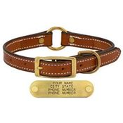 shop LONDON TAN 3/4 in. Center Ring Leather Collar