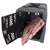 shop  Lucky Duck Intermediate Kennel + Bizzy Beds® Crate Cushion COMBO -- Pink Conceal Camo