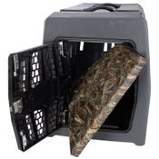 shop Lucky Duck Large Kennel + Bizzy Beds® Crate Cushion COMBO -- True Timber DRT Mini Camo