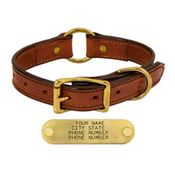 shop MAHOGANY 1in. Center Ring Leather Collar