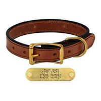 shop MAHOGANY 1in. Standard Leather Collar