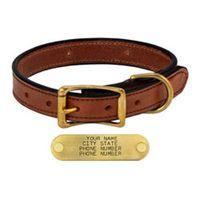 shop MAHOGANY 1 in. Deluxe Leather Standard Collar