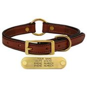 shop MAHOGANY 3/4 in. Center Ring Leather Collar