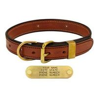 shop MAHOGANY 1 in. Deluxe Leather D-end Collar