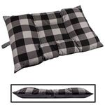 MEDIUM Bizzy Beds® Dog Bed -- Buffalo Black / Gray Two-Tone