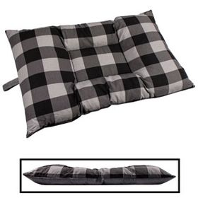 shop MEDIUM Bizzy Beds® Dog Bed -- Buffalo Black / Gray Two-Tone
