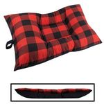 MEDIUM Bizzy Beds® Dog Bed -- Buffalo Red / Black Two-Tone