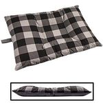 MEDIUM Bizzy Beds® Dog Bed with Zipper -- Buffalo Black / Gray Two-Tone