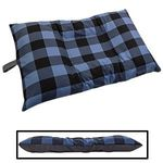 MEDIUM Bizzy Beds® Dog Bed with Zipper -- Buffalo Blue / Gray Two-Tone