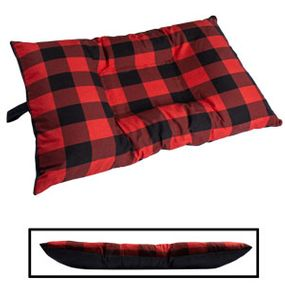 shop MEDIUM Bizzy Beds® Dog Bed with Zipper -- Buffalo Red / Black Two-Tone