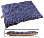 MEDIUM Bizzy Beds™ Dog Bed with Zipper -- Chevron / Tan Two-Tone