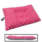 MEDIUM Bizzy Beds® Dog Bed with Zipper -- Pink Polka Dot / Gray Two-Tone