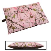 shop MEDIUM Limited Edition Bizzy Beds® Dog Bed -- Pink Conceal Camo / Coffee Two-Tone