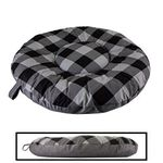 shop HOLIDAY SALE -- MEDIUM Round Bizzy Beds® Dog Bed -- Buffalo Black / Black Two-Tone