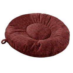 shop MEDIUM Round Bizzy Beds® Dog Bed -- Burgundy Wine