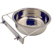 shop Medium Stainless Steel Kennel Cup with Bolt Clamp -- approx 60 oz.
