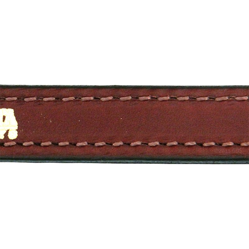 Mendota 12 in. Leather Steady Tab Inside Stitching Detail