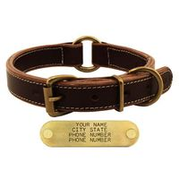 shop CLOSEOUT -- Mud River High Prairie Leather Center Ring Dog Collar