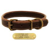 shop Mud River High Prairie Leather Standard Dog Collar