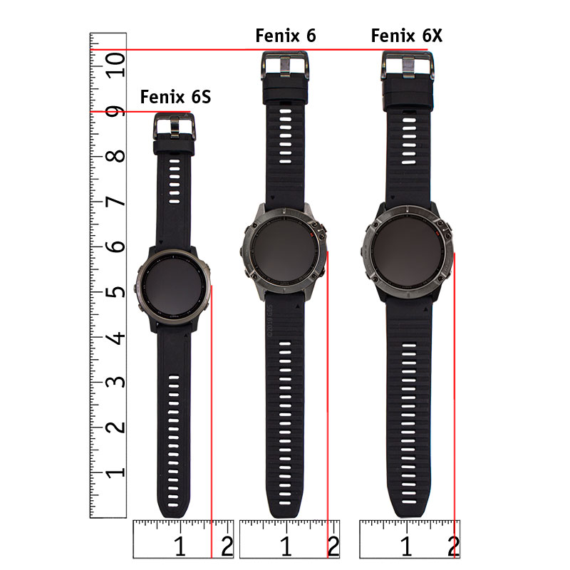Fenix 6 Series Watch Size Chart