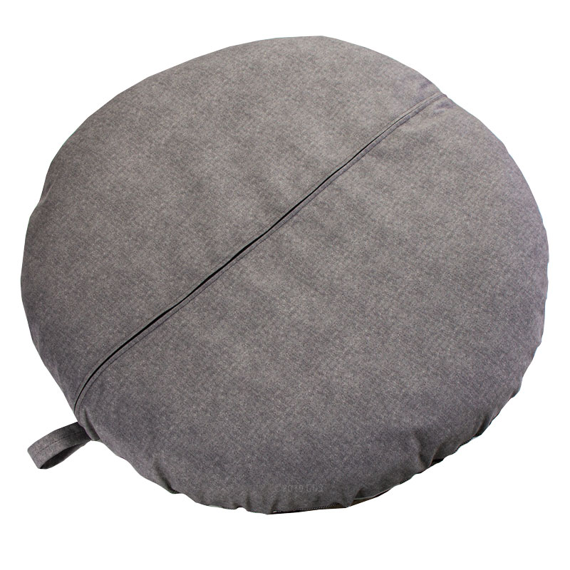 SMALL Round Buffalo Black Bizzy Beds Back
