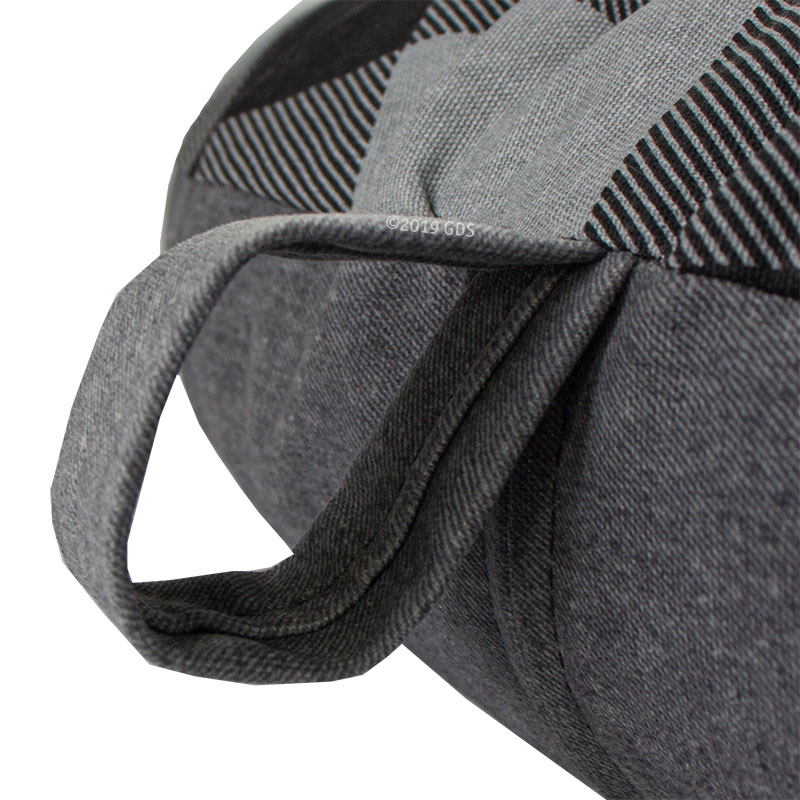 SMALL Round Buffalo Black Bizzy Beds Loop Detail