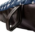 shop Bizzy Beds Blue Stars / Faux Leather Handle Detail