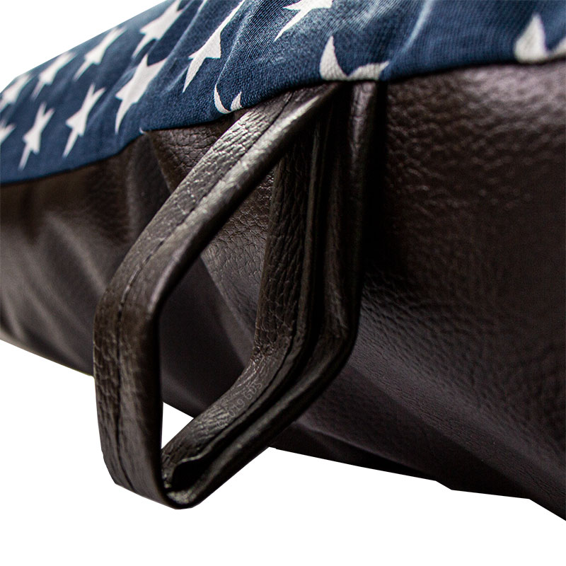 Bizzy Beds Blue Stars / Faux Leather Handle Detail