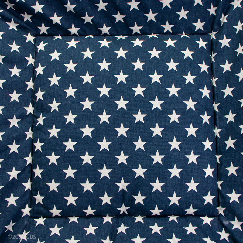 Bizzy Beds Blue Stars / Faux Leather Center