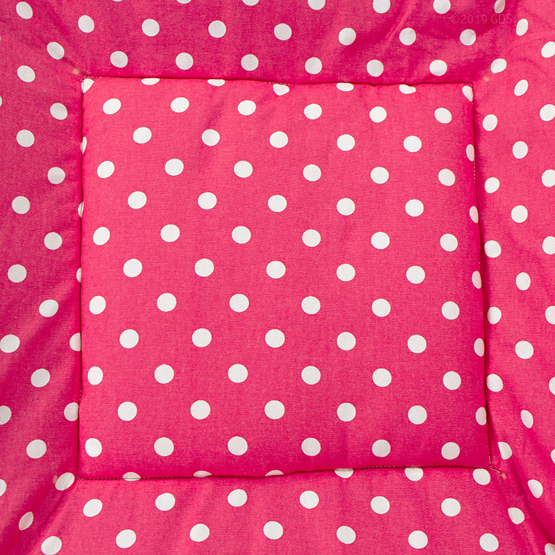 Bizzy Bed Pink Polka Dot Center Square Detail