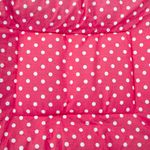 shop Bizzy Bed Pink Polka Dot Center Square Detail
