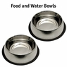Stainless Steel No-Tip Bowls