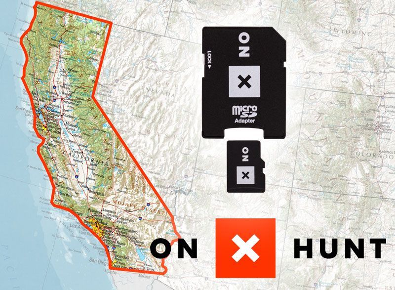 ONXMAPS California PLAT Topo Map - Micro SD on