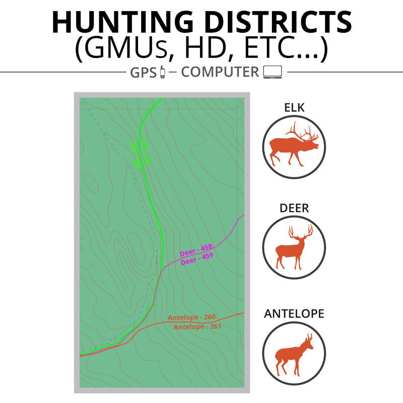 ONXMAPS Hunt Map Districts