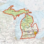 shop ONXMAPS Michigan PLAT Topo Map - Micro SD