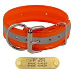 shop ORANGE 1 1/2 in. Beaded Reflective D-End Collar