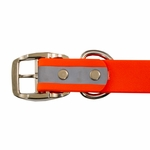 shop Orange TufFlex Reflective Collar Buckle Inside Detail