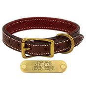 shop 1 in. Premium Deluxe Leather Standard Collar -- Sunset Harness with Maroon Buffalo Liner