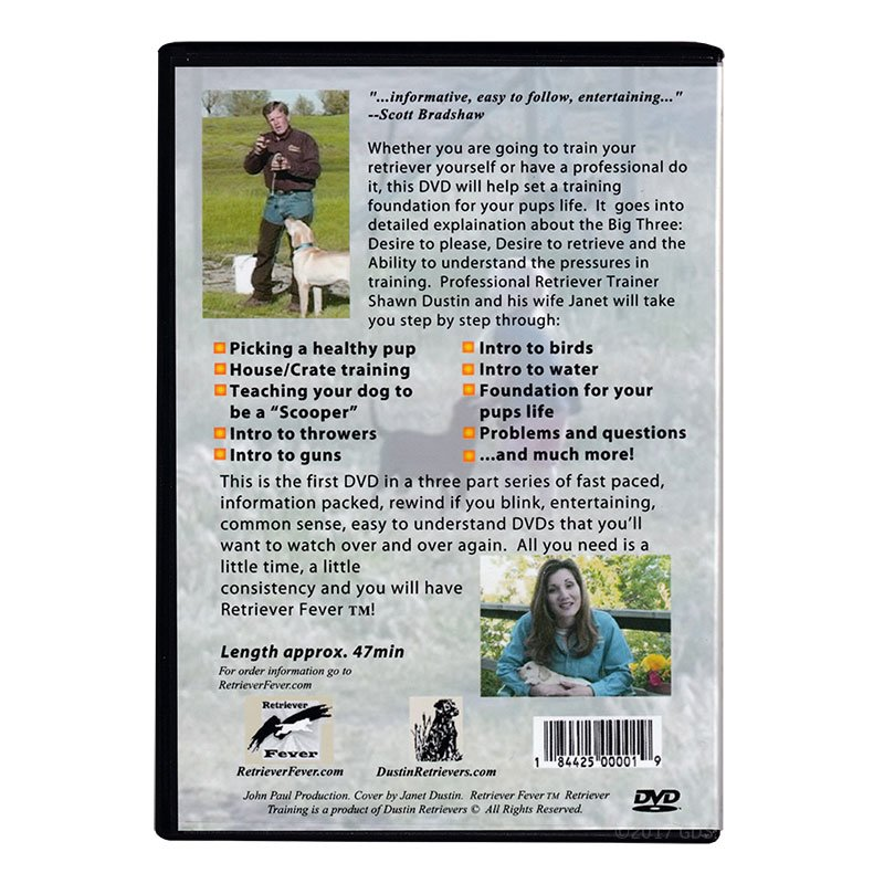 Puppy DVD back