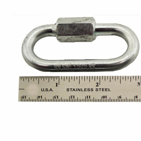 Quick Links - Zinc Plated 8mm - 3 in. Long