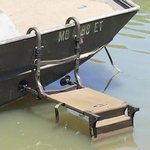 shop Ramp Stand in Use on Boat