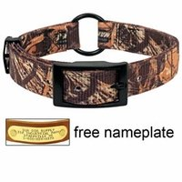 shop Realtree Max 4 Camo 2-ply Nylon Center Ring Dog Collar