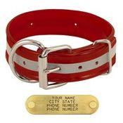 shop RED 1-1/2 in. Beaded Reflective D-End Dog Collar