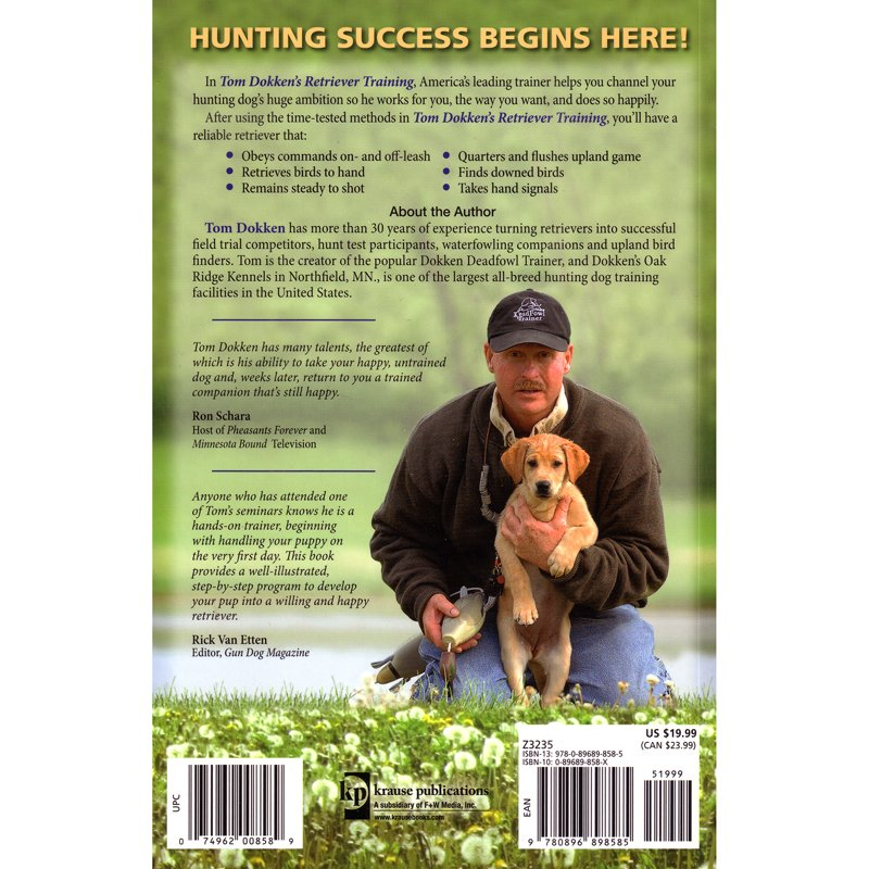 Retriever Training Back Cover Detail
