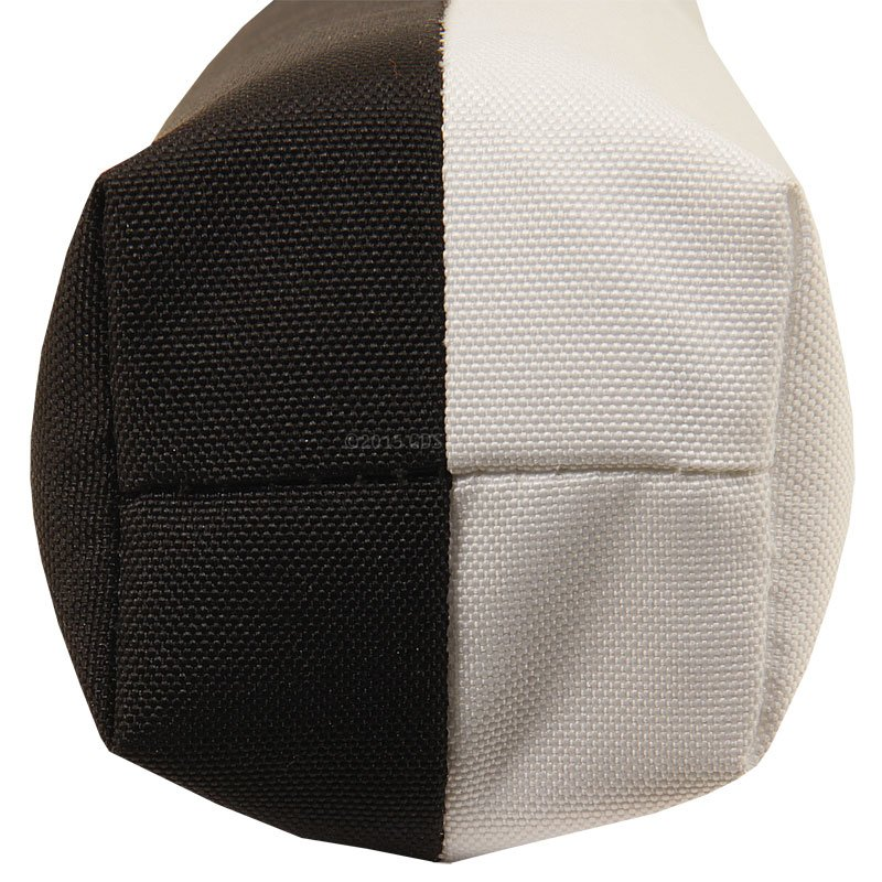 RRT Black/White 10 in. Canvas Launcher Top View