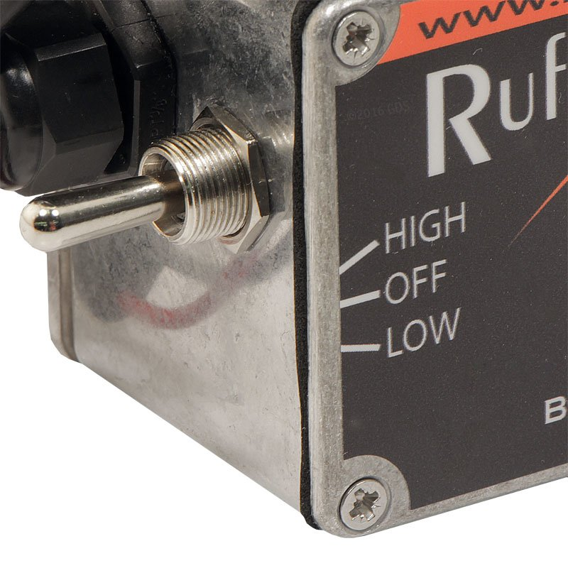 Ruff Tough Kennel Fan Toggle Switch Detail