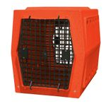shop Ruff Tough Kennels Intermediate Double Door Dog Crate Orange