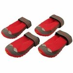 shop SAVE 20%! -- Scratch & Dent Red Grip Trex Dog Boots by Ruff Wear -- Set of 4 --
